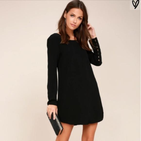 55175cf3f39 Lulu s Dresses   Skirts - Lulu s BLACK LONG SLEEVE SHIFT DRESS